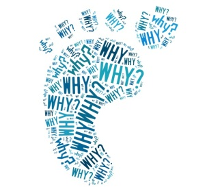 Five whys footprint word cloud